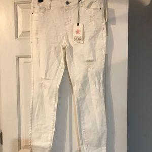 Women's vanilla star white skinny jeans